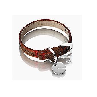 Hennessy oprindelige Harris Tweed krave Rust store 40-47cm (16-18,5