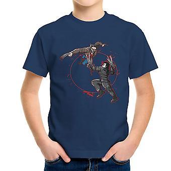 Blood Equinox Wolverine Vs Edward Scissorhands Kid's T-Shirt