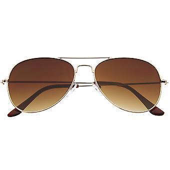 Classic Teardrop Full Metal Frame Gradient Flat Lens Aviator Sunglasses 54mm
