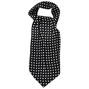 Knightsbridge Neckwear Polka Dot Silk Cravat - Black/White