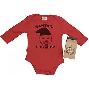 Spoilt Rotten SR Dreams Future Santa's Helper Babygrow 100% Organic Cotton