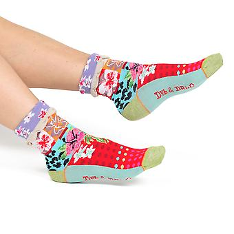 Jungle women's cotton turn-over crew socks | Designed in France by Dub & Drino