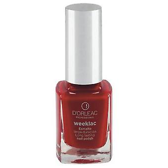 D'Orleac Nail Polish Weeklac No. 5 - Red (Femme , Maquillage , Ongles , Vernis)