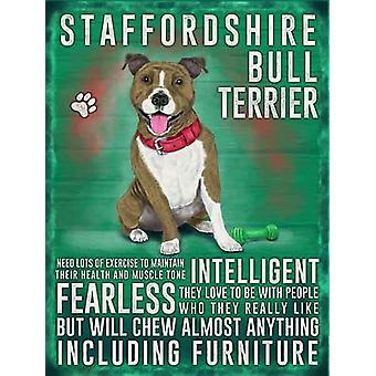 Medium Wall Plaque 200mm x 150mm - Staffordshire Bull Terrier