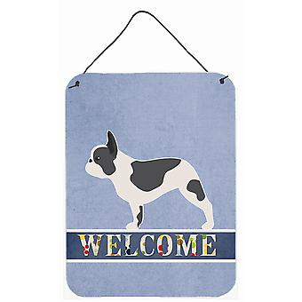 French Bulldog Welcome Wall or Door Hanging Prints