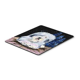 Starry Night Old English Sheepdog Mouse Pad / Hot Pad / Trivet