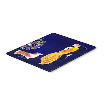 Carolines Treasures  SS8546MP Lady with her Corgi Mouse Pad, Hot Pad or Trivet