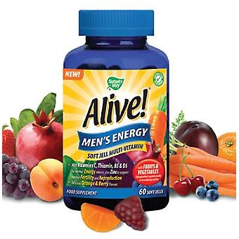 Nature's Way, Alive! Men`s Energy Soft Jells, 60 chewables