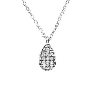 Drop - 925 Sterling Silver Jewelled Necklaces