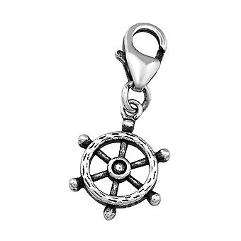 Ship's Wheel - 925 Sterling Silver Charms with Lobster