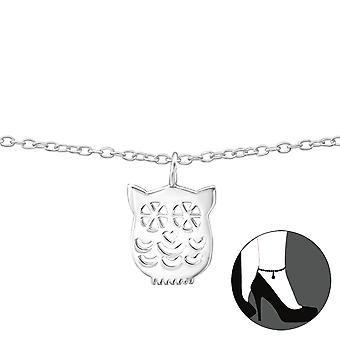 Owl - 925 Sterling Silver Anklets - W35070x