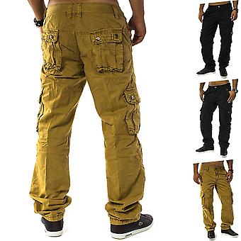 Cargo Hose Jeans Loose Fit Chinohose Cargohose Work Trousers Men Trophy