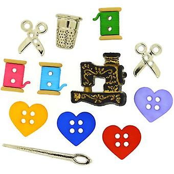 Dress It Up Embellishments-For The Love Of Quilting DIUBTN-9062