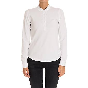 Sun 68 women's 2720501 white cotton polo shirt