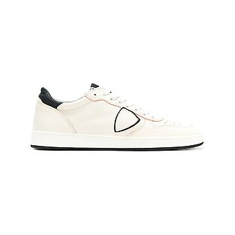 Philippe model men's LKLUVD02 White leather of sneakers