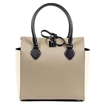 Michael Kors Ladies Miranda Beige Leather Tote Handbag