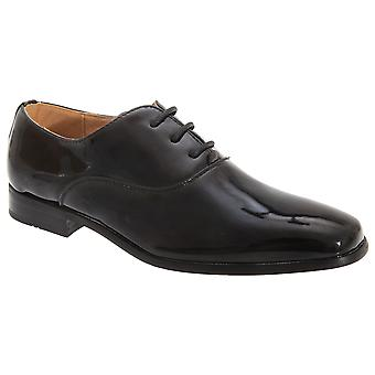 Goor Boys Patent Leather Lace-Up Oxford Tie Dress Shoes