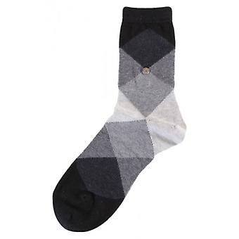 Burlington Bonnie Socks - Black/Dark Grey/Light Grey