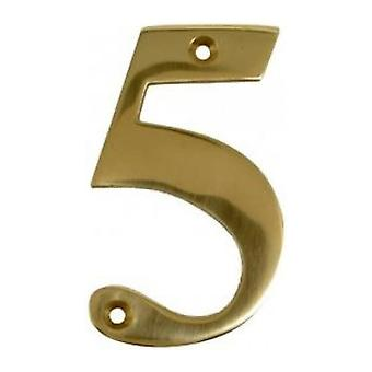 UAP House Door Numerals Numbers - Gold Number 5