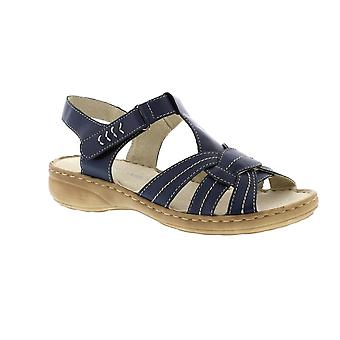 Marco Tozzi Pansy 28900 - Navy (Leather) Womens Sandals