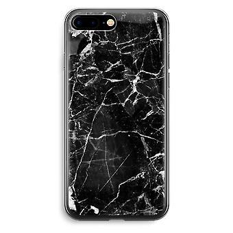 iPhone 7 Plus Transparent Case (Soft) - Black Marble 2