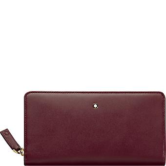 Montblanc mens 114533BURGUNDY Burgundy leather wallets