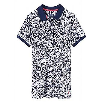 Joules Trinity Slim Fit Polo Shirt Navy Mara Ditsy