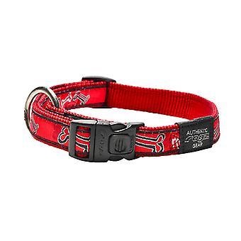 Collar de perro lujo vestido rojo perro hueso