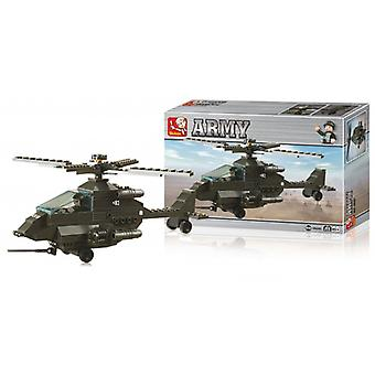 Sluban Building Blocks Army Serie Attack Helicopter