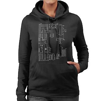 Nintendo Computer Schematic Women's Hooded Sweatshirt