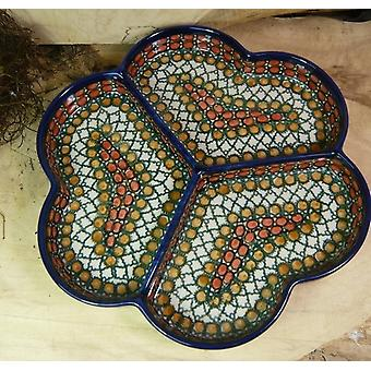 Plaque snack, ø 24 cm, 1 unique - céramique de Haute-Lusace - BSN 15118