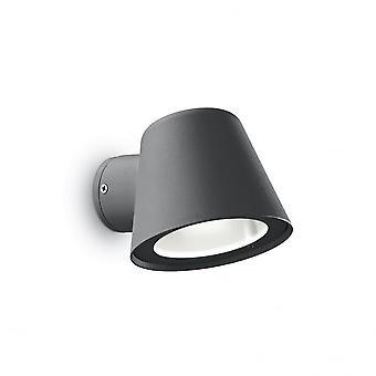 Ideal Lux Outdoor Gas Graphite Pot Shaped Wall Downlight GU10