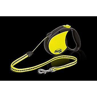 Flexi Retractable Neon Dog Lead, Small Size Leash, Cord 5m, For a Dog up to 12kg