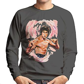 Sidney Maurer Original Portrait Of Bruce Lee Enter The Dragon Men's Sweatshirt