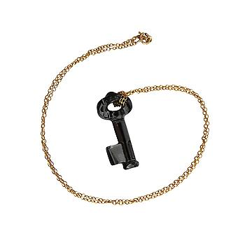 Necklace gold-plated with Crystal key element