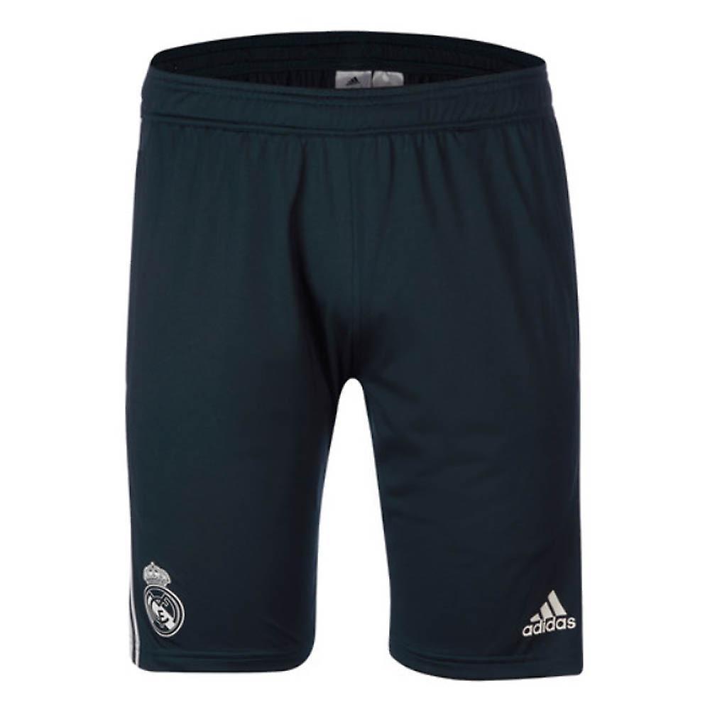 2018-2019 Real Madrid Adidas Training Shorts (Dark Grey) - Kids