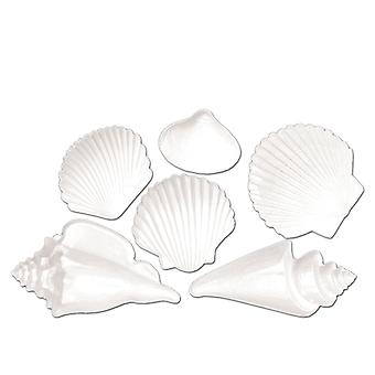 Vit plast Seashell dekoration