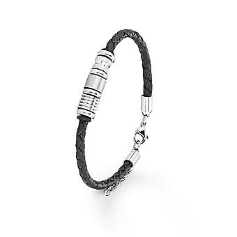 s.Oliver juvel mens skinn armbånd Titan SO612/1 - 383615