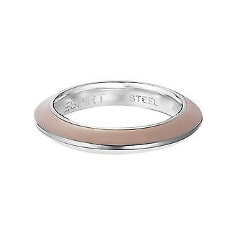 Esprit Damen Ring Edelstahl Marin 68 beige / weiss ESRG11564B