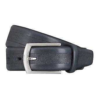 LLOYD Men's belt belts men's belts leather belt cowhide Navy Blue 5037