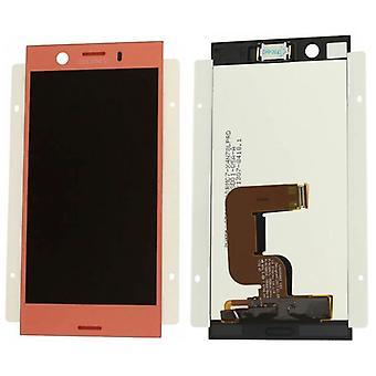 Sony Display LCD Komplett Einheit für Xperia XZ1 Compact G8441 Pink / Rosa Ersatzteil Neu