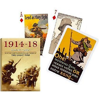 1914-1918 World War I Set Of 52 + Jokers Playing Cards