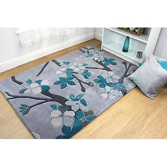 Bloesem Sakura Teal rechthoek tapijten moderne tapijten