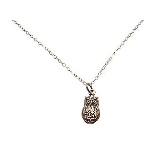Gemshine - ladies - necklace - pendant - bronze - gold plated - eagle-owl - 2 cm
