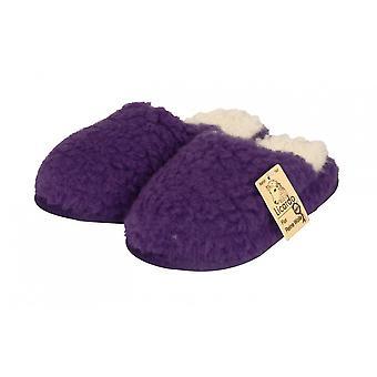 Wellness slippers wool purple 42/43