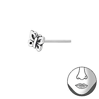 Butterfly - 925 Sterling Silver Nose Studs - W35758x