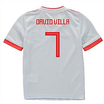 2018-2019 España Away Adidas Mini Kit (David Villa 7)