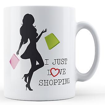 Uwielbiam zakupy - Wydrukowano kubek