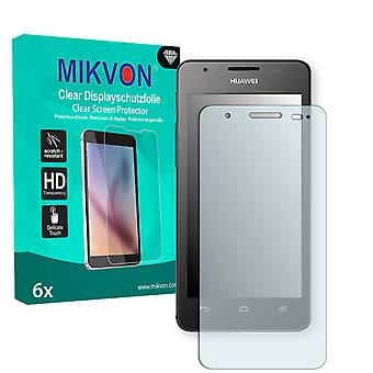 Huawei Ascend G525 Dual Screen Protector - Mikvon Clear (Retail Package with accessories)