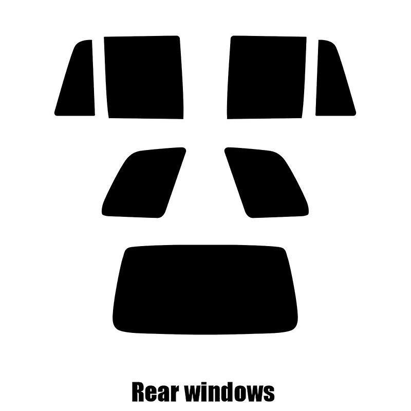 Pre cut window tint - Kia Sportage - 1996 to 2003 - Rear windows